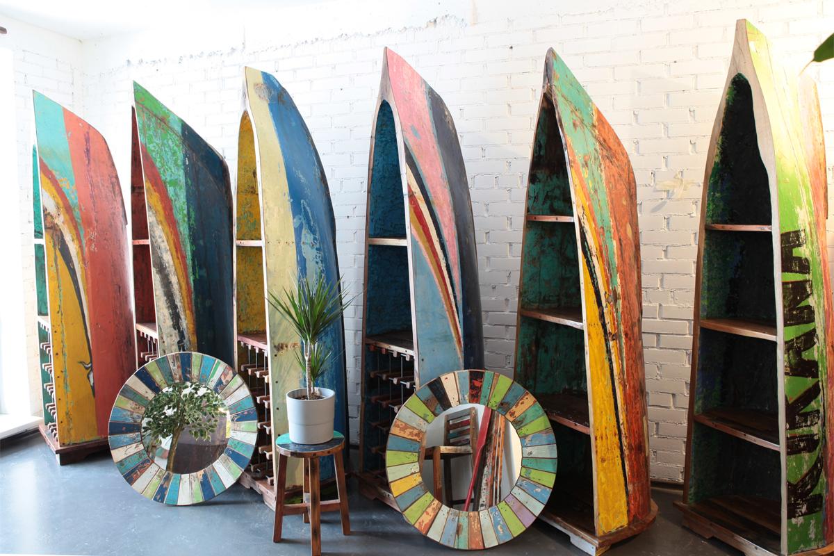 Винные шкафы из лодок