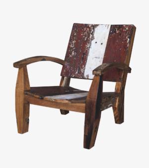 Кресло Ньютон бело-красное