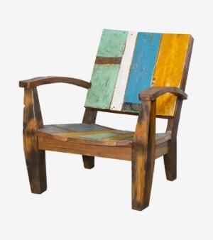 Кресло Ньютон голубо-желтое